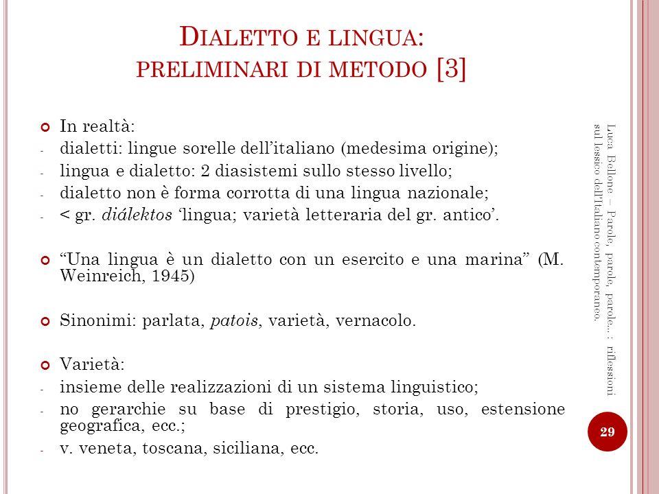 Dialetto e lingua: preliminari di metodo [3]